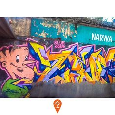 #Graffiti dates back to Ancient Greece. Popularization of this street art form in Delhi dates back to 2008-09.  Suppandi by Zine - Seen in Nehru Enclave, #Delhi