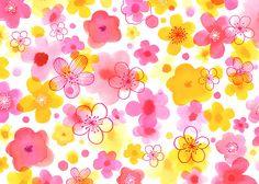 Margaret Berg Art: Pink & Yellow Blossoms