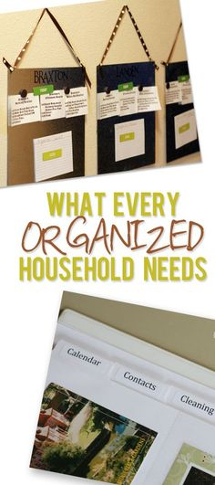 Household Planner - What every organized household needs