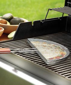 Heavy-duty Chromed Steel Quesadilla Basket - perfect for grilling.
