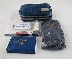 Vintage USAir US AIRWAYS US Air Amenity Kit Bag Travel Kit w/ Contents