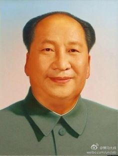 a combination of mao zedong and xi jinping's portrait.