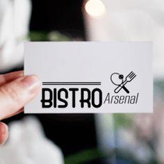 Arsenal Bistro logo terv Arsenal, Cards Against Humanity, Design, School