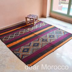 Morocco Vintage rug // 6x6' // Beni M'tir // Purple / Square // KL9692 on Etsy, $550.00