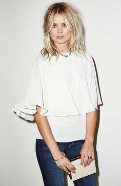Blaque Label Cape Top in White | DAILYLOOK