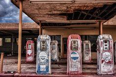 Abandoned gas station near Blythe, CA.