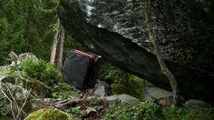 "Nils Favre, Millet technical advisor, climbing ""Permanent Midnight - 8B "" at Fionnay, Switzerland.  By Dead Deaf Fennek."