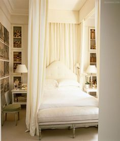 27175f3a098a Traditional white bedroom with a Canopy bed Canopy Outdoor