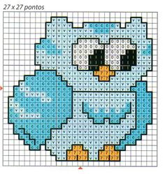 cute owl magnet - coaster pattern in plastic canvas