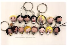 Shingeki no Kyojin charms by Spirit-Phoenix.deviantart.com on @deviantART