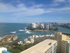 View of San Juan from the balcony at Caribe Hilton