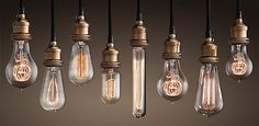 Edison bulbs from Restoration Hardware. Expensive, but awesome.