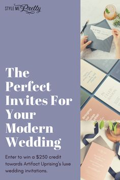 Custom luxe wedding invitations for your modern wedding + a $250 Artifact Uprising giveaway!