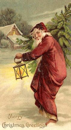 Vintage Christmas Card with Santa Claus! (1/2/2014) Christmas (CTS)