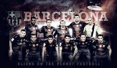 FC Barcelona Players HD Wallpaper