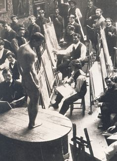 History Discover Circa 1900 - Vintage photograph of a life drawing class at the Atelier Bonnat featuring a male model. Vintage Photographs Vintage Photos Jean Leon Artists And Models Art Of Man Male Figure Figure Model Poses Gay Art Vintage Photographs, Vintage Photos, Jean Leon, Pin Up, Artists And Models, Art Of Man, Male Figure, Figure Model, Gay Art