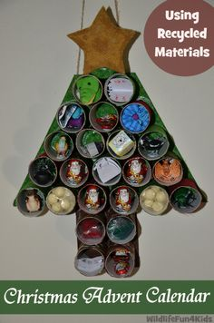 DIY Advent Calender using recycled materials