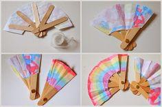 Steps to make DIY Folding Popsicle Stick Fan