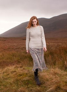 Fisherman Cable And Rib Crew Neck: This relaxedFishermansweater in wool alpaca features a subtle cable design combined with rib detail throughout. This style will be a cozy & luxurious addition to your wardrobe. #aran#sweater #cableknit#sweater#wool#knitwear#aransweater#fashion#style#winteroutfits#rustic#elegant#womenswear#fallfashion#aw17 #fisherman #styleirlandiase