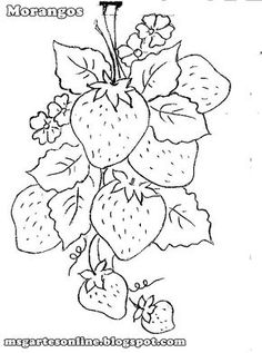 Hand Embroidery Patterns, Vintage Embroidery, Embroidery Art, Embroidery Stitches, Painting Patterns, Fabric Painting, Colouring Pages, Coloring Books, Easy Drawings