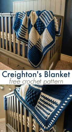 Creighton's blanket is a customizable crochet stitch sampler pattern that can be used for a baby blanket, a lapghan, or a full blown king size blanket! via @ashlea729