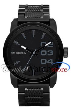 Shop for Diesel Men's Black Stainless Steel Watch. Get free delivery On EVERYTHING* Overstock - Your Online Watches Store! Diesel Watches For Men, Army Watches, Fossil Watches, Black Watches, Nice Watches, Black Stainless Steel, Stainless Steel Watch, Stainless Steel Bracelet, Black Diesel