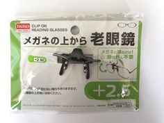 DAISO JAPAN Clip on Flip up Magnifying Reading Eye Glasses japanese +2.50 F/S #DaisoJapan