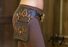 Mohana Leather Pocket Belt Bag - Black and Tan - Trade it for a purse - Take it to a Festival on Etsy, $395.00