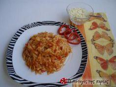 Κριθαράκι Σμυρνέϊκο Greek Recipes, Different Recipes, Macaroni And Cheese, Side Dishes, Recipies, Pasta, Traditional, Dinner, Vegetables