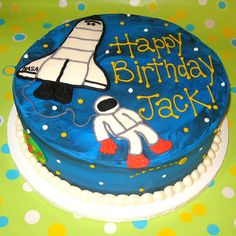 Astronaut Cake (but with a better astronaut)