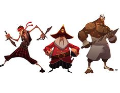 a pirate character lineup for a pitch i did some time back
