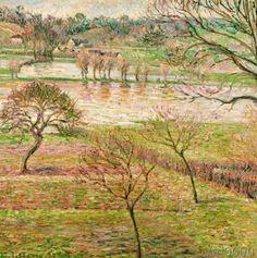 Camille Pissarro - Überschwemmung in Eragny