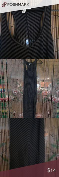 Hang ten maxi dress Racer back black and gray maxi dress Hang ten Dresses Maxi
