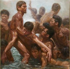 struggle of youth III by orley ypon Philippine Art, Quezon City, Positive Images, Art For Art Sake, Mural Painting, Gay Art, Art Images, Opera, Mystery