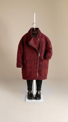 Manteau cocon à motif jacquard graphique | Burberry