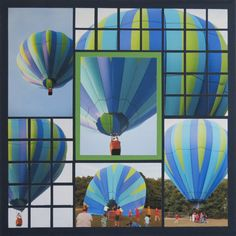 Hot Air balloon scrapbook page - this is amazing. I gotta do this with photos of my recent trip.
