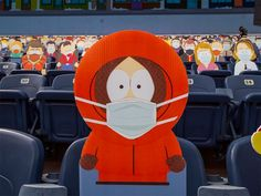 1,800 South Park Cut-Outs Spread Across Five Sections at Broncos Game During the COVID-19 Pandemic Denver Broncos Game, Go Broncos, South Park Characters, Fictional Characters, South Park Funny, Comedy Central, Art Reference, Charity, Cut Outs