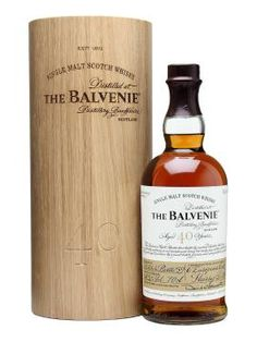 Balvenie 40 Year Old / Batch 4 - The fourth batch in the Balvenie 40 year old series. This release is a marriage of 6 European Oak Sherry Butts, hand selected by Balvenie Malt Master David Stewart. Limited to only 150 bottles worldwide, this is collectors piece which is sure to be highly sought after.