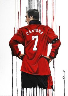King Cantona Acrylic painting by Mark Bramwell Manchester United Wallpaper, Manchester United Legends, Manchester United Players, Bryan Robson, Eric Cantona, Football Players, Football Icon, Football Gif, Man United