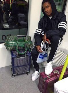 ASAP Rocky in his Jeremy Scott - Adidas