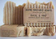 NATURAL HANDMADE SHAMPOO BODY BAR MADE WITH HOME BREWED BEER!