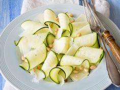 Asparagus And Gruyere Ravioli With White Wine Butter Sauce Zucchini Ravioli, White Wine Butter Sauce, Vegan Naan, Naan Recipe, Vegetable Salad, Asparagus, Salad Recipes, Entrees