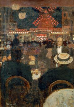 Pierre Bonnard (French, 1867-1947), Le Moulin Rouge or La place Blanche (Terrasse de Cafe), 1896