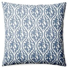 Check out this item at One Kings Lane! Tania 20x20 Cotton Pillow, Blue