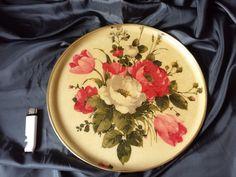 "Vintage KESWICK England British Large Tray ROSES ENGLISH pattern ""Chantal""  #Keswick"