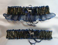 Navy Blue MOSSY OAK Camouflage wedding by SheerSatinandLace, $26.99