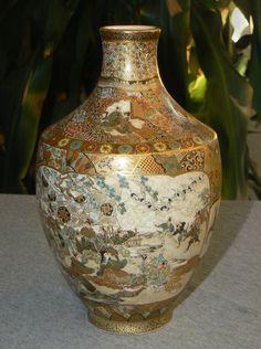 Outstanding Japanese Satsuma Vase - Kinkozan