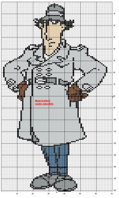 Inspector Gadget perler bead pattern by Mauricette