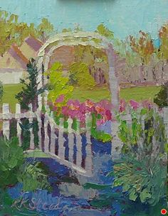"""Early Morning Spring Color by Roxanne Steed Oil ~ 8"""" x 6"""""""