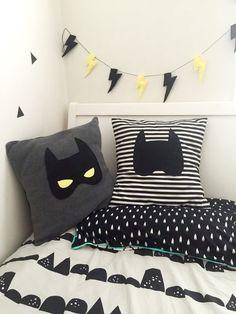 Batmask Batman Plush Grey Kids Cushion with Felt Mask Superhero Decor